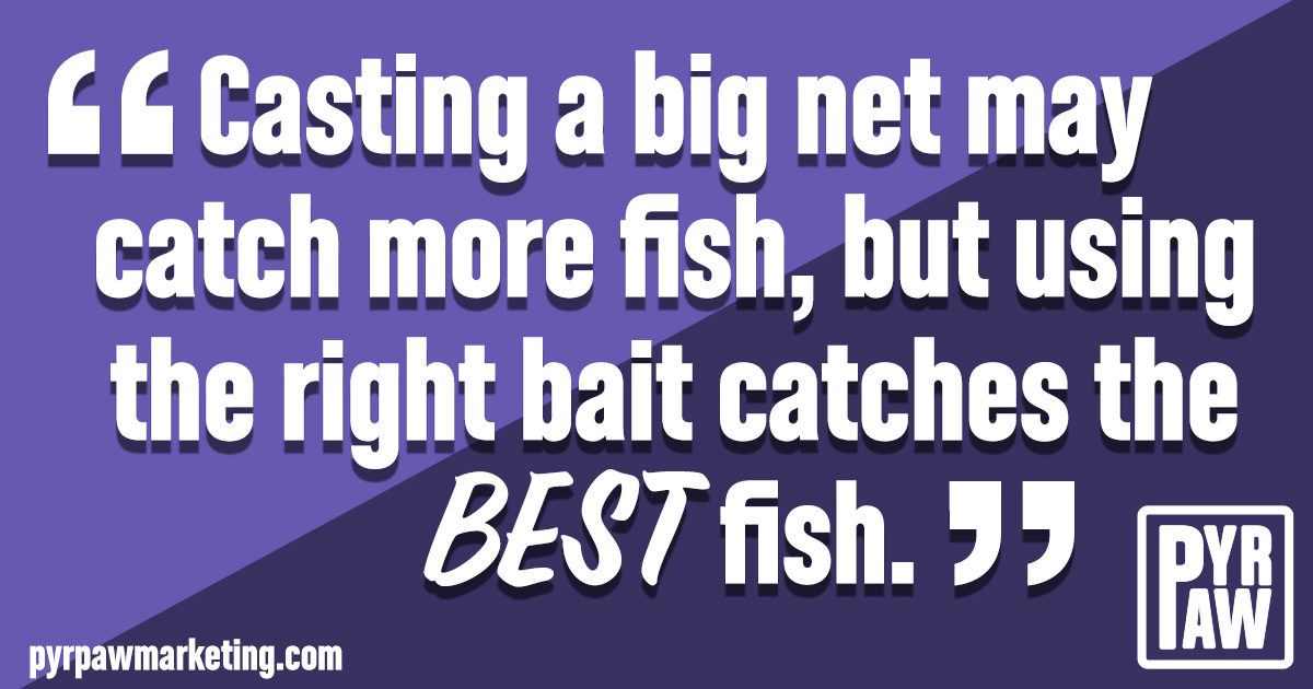 attracting clients with the right bait graphic