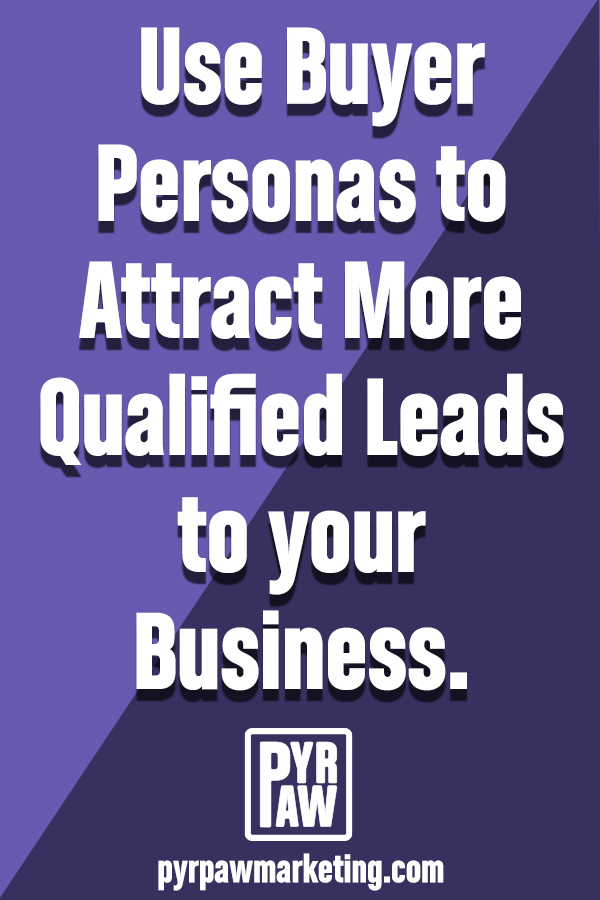 use buyer personas to attract more qualified leads pinterest graphic