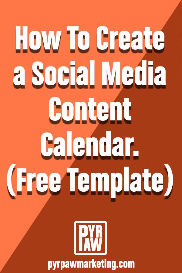 How to create a social media content calendar pinterest graphic